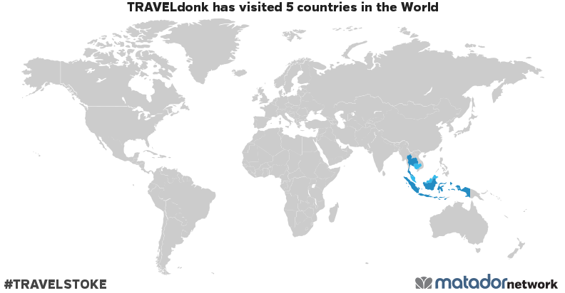 TRAVELdonk's Travel Map