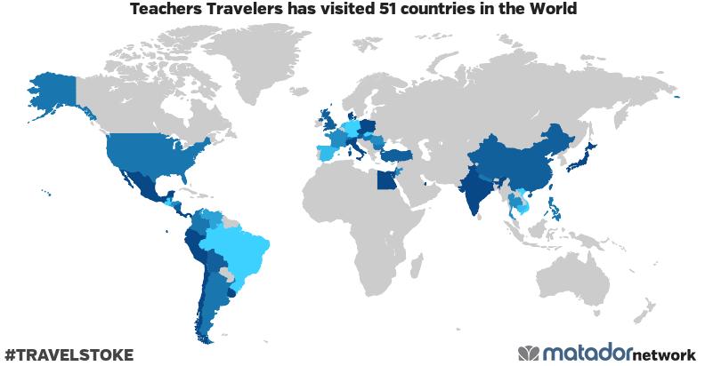 Teachers Travelers's Travel Map