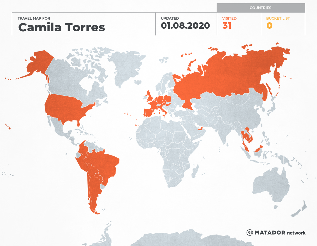 Camila Torres's Travel Map