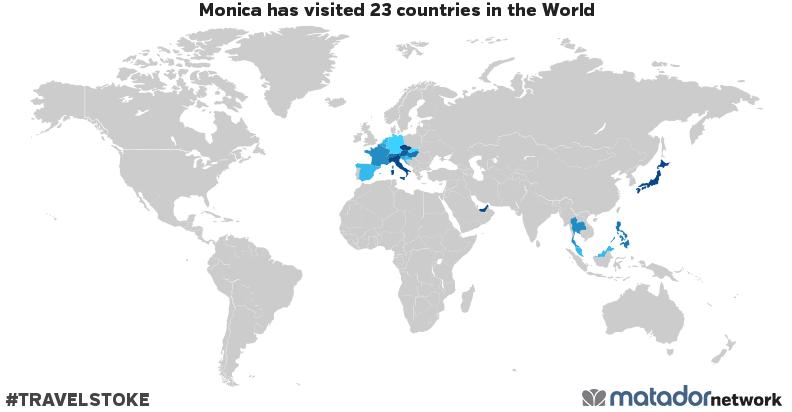Monica's Travel Map
