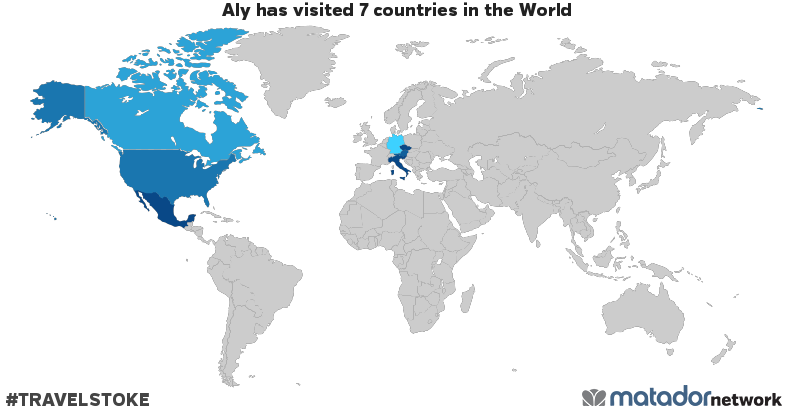 Aly's Travel Map