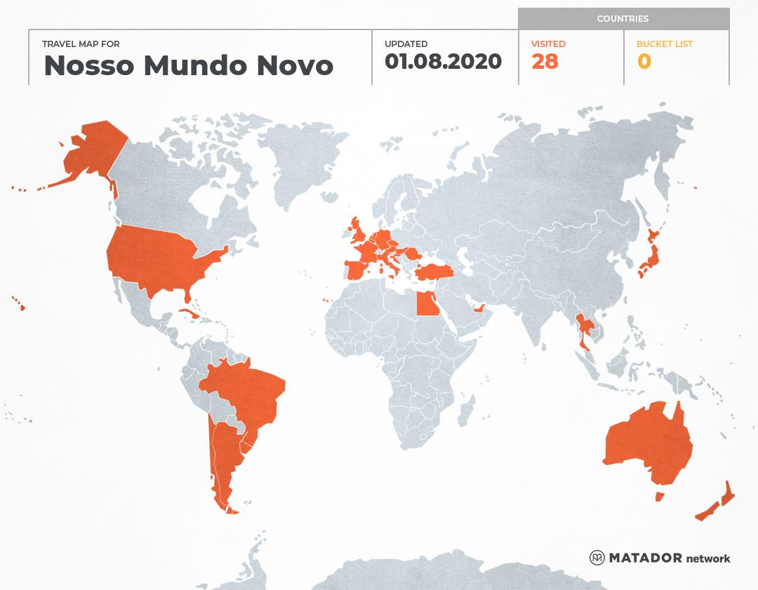 Nosso Mundo Novo's Travel Map