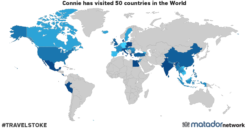 Connie's Travel Map