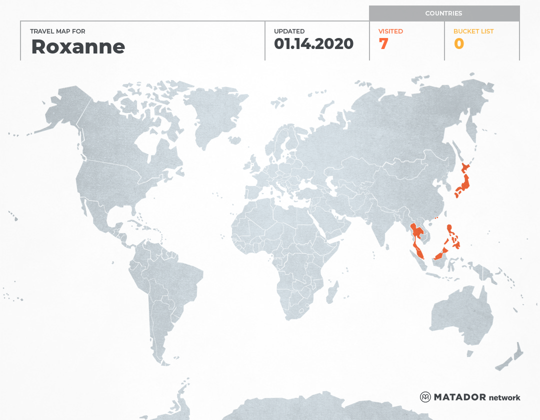 Roxanne's Travel Map