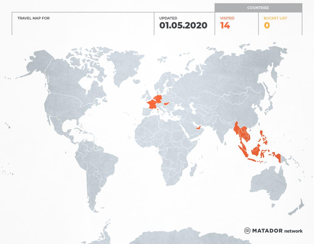 Catatan Ransel's Travel Map