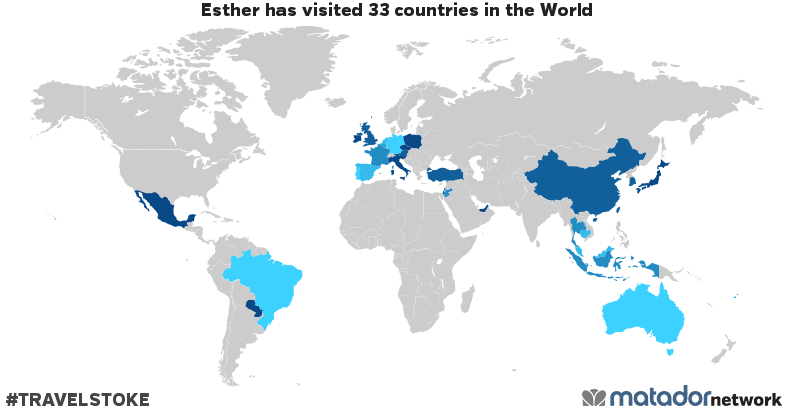 Esther's Travel Map