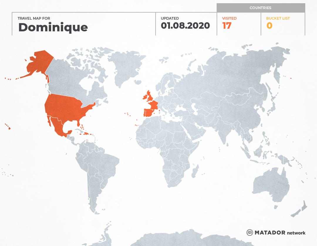 Dominique's Travel Map