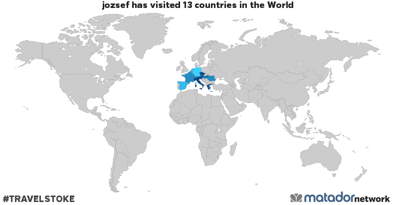 jozsef's Travel Map
