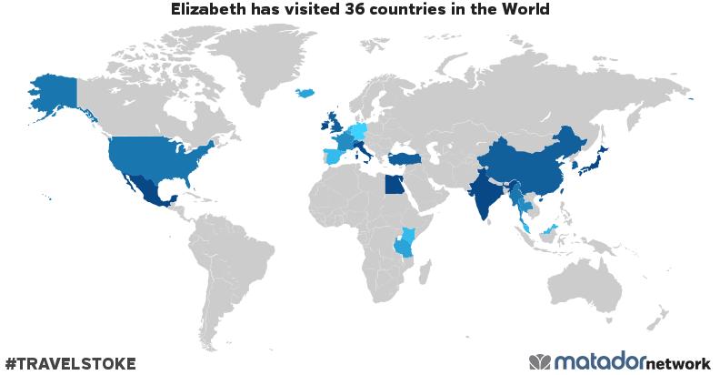 Elizabeth's Travel Map