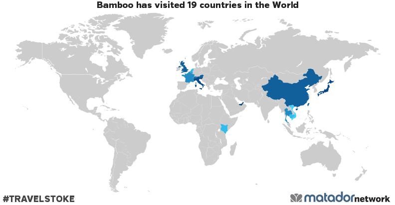 Bamboo's Travel Map