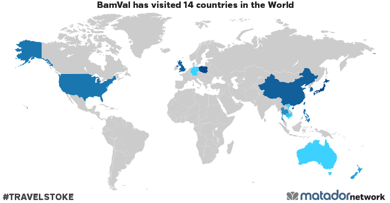 BamVals Travel Map Matador Network - Map japan united states