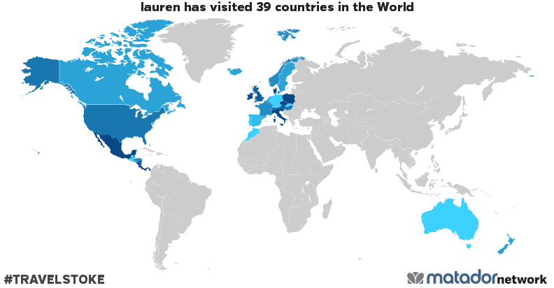 lauren's Travel Map