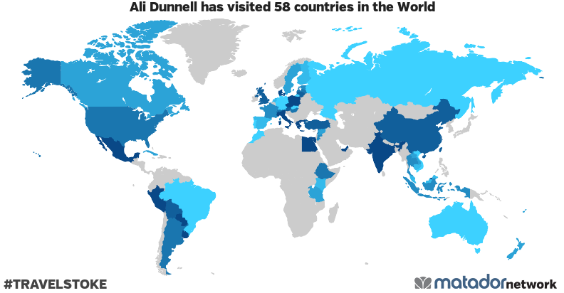ali dunnells travel map