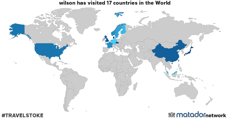 wilson's Travel Map
