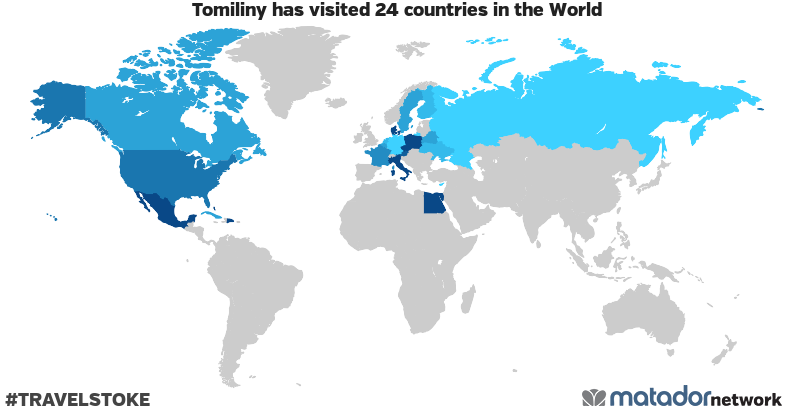 Tomiliny's Travel Map