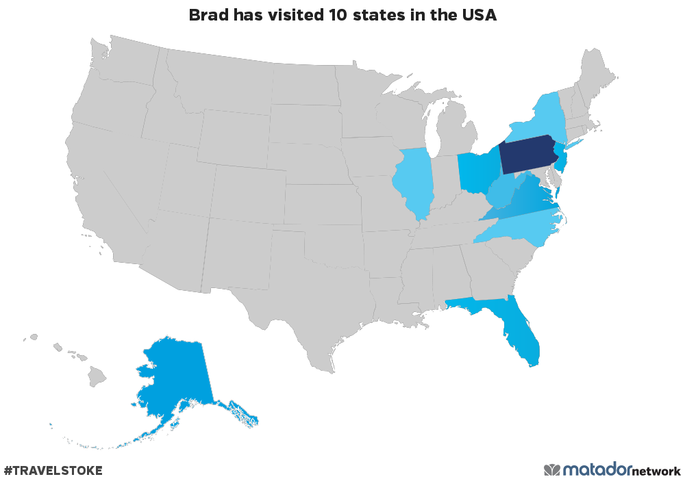 Map Of Ohio West Virginia And Pennsylvania.Brad Has Been To 10 Us States Matador Network