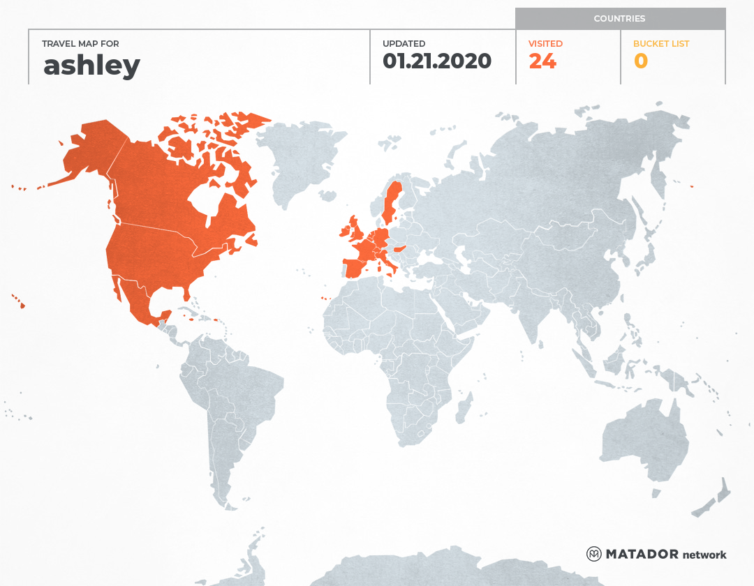ashley's Travel Map