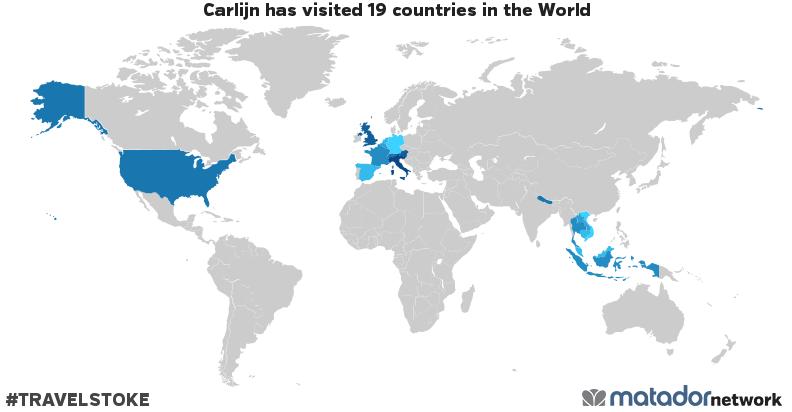 Carlijn's Travel Map