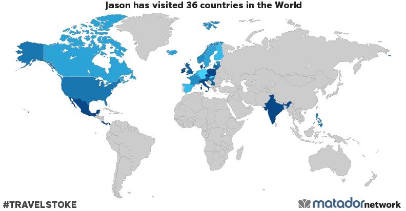 Jason's Travel Map