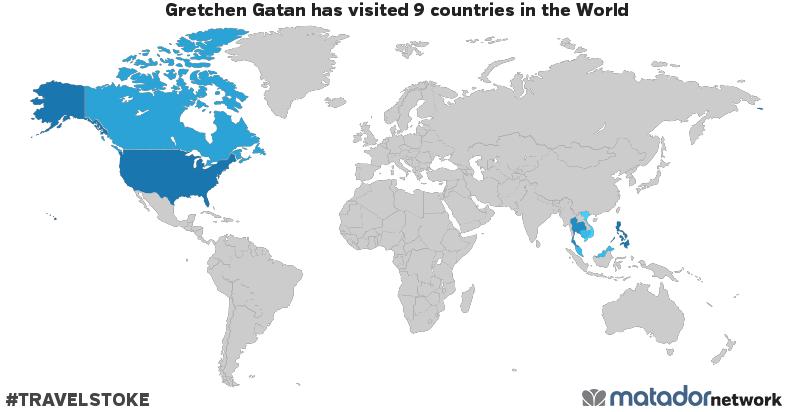 Gretchen Gatan's Travel Map