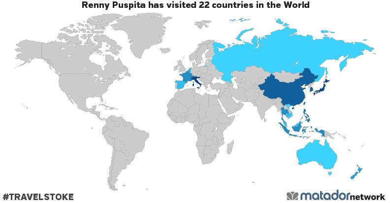 Renny Puspita's Travel Map