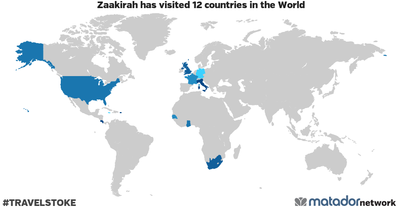 Zaakirah's Travel Map