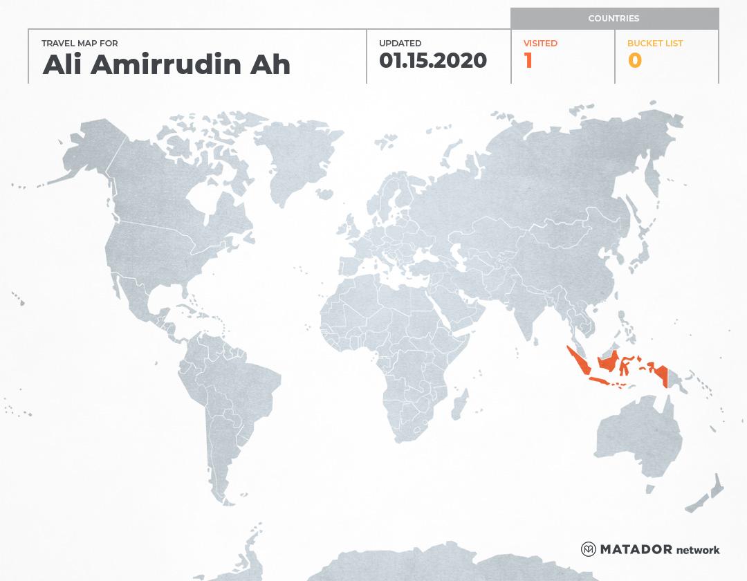 Ali Amirrudin Ahmad's Travel Map