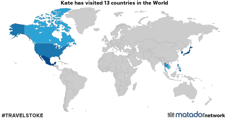 Kate's Travel Map