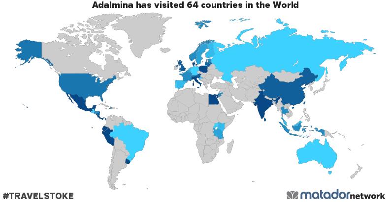 Adalmina's Travel Map