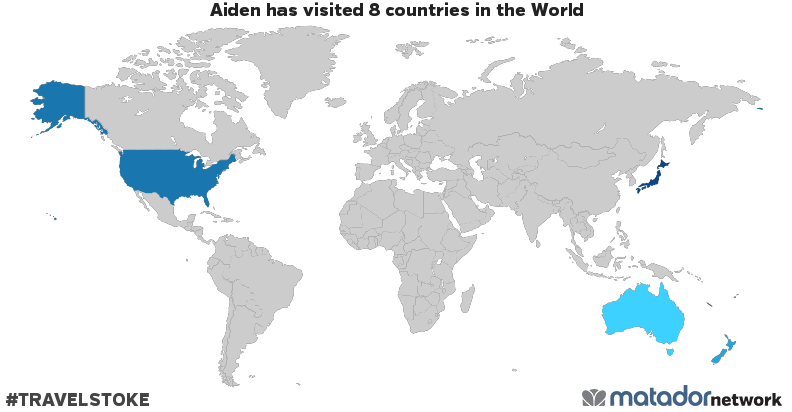 Aidens travel map matador network aidens travel map gumiabroncs Gallery