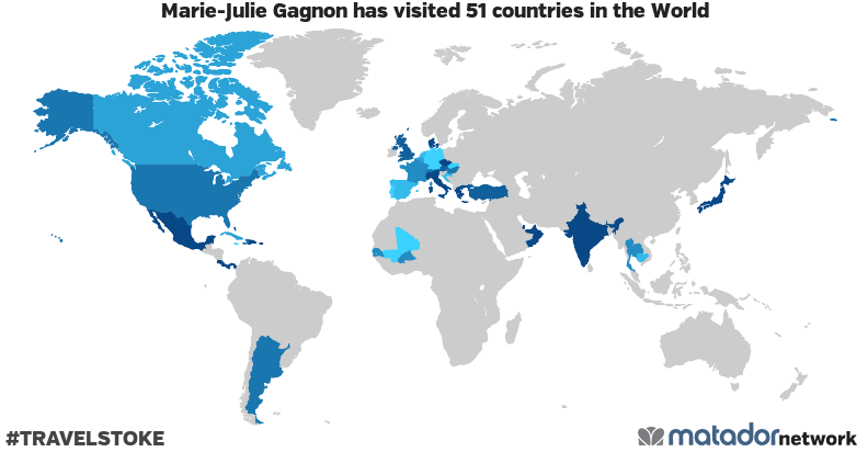 Marie-Julie Gagnon's Travel Map