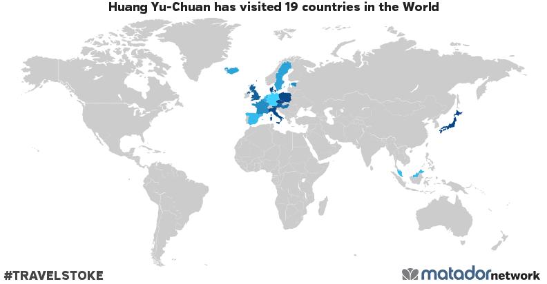 Huang Yu-Chuan's Travel Map