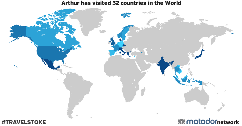 Arthur's Travel Map