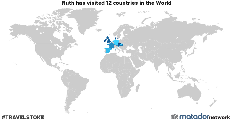 Ruth's Travel Map