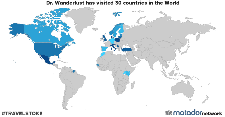 Dr. Wanderlust's Travel Map