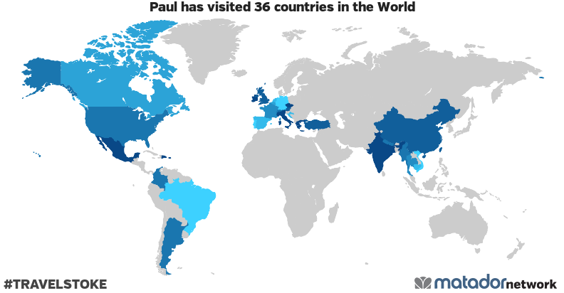 Paul's Travel Map