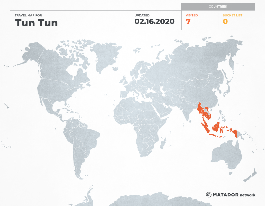 Tun Tun's Travel Map