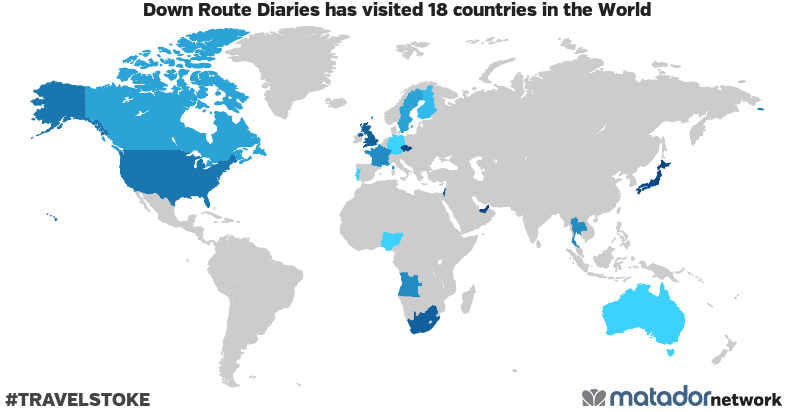 Down Route Diaries's Travel Map - Matador Network on united state network, united route nashville, united airlines,