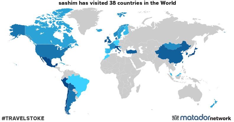 sashim's Travel Map