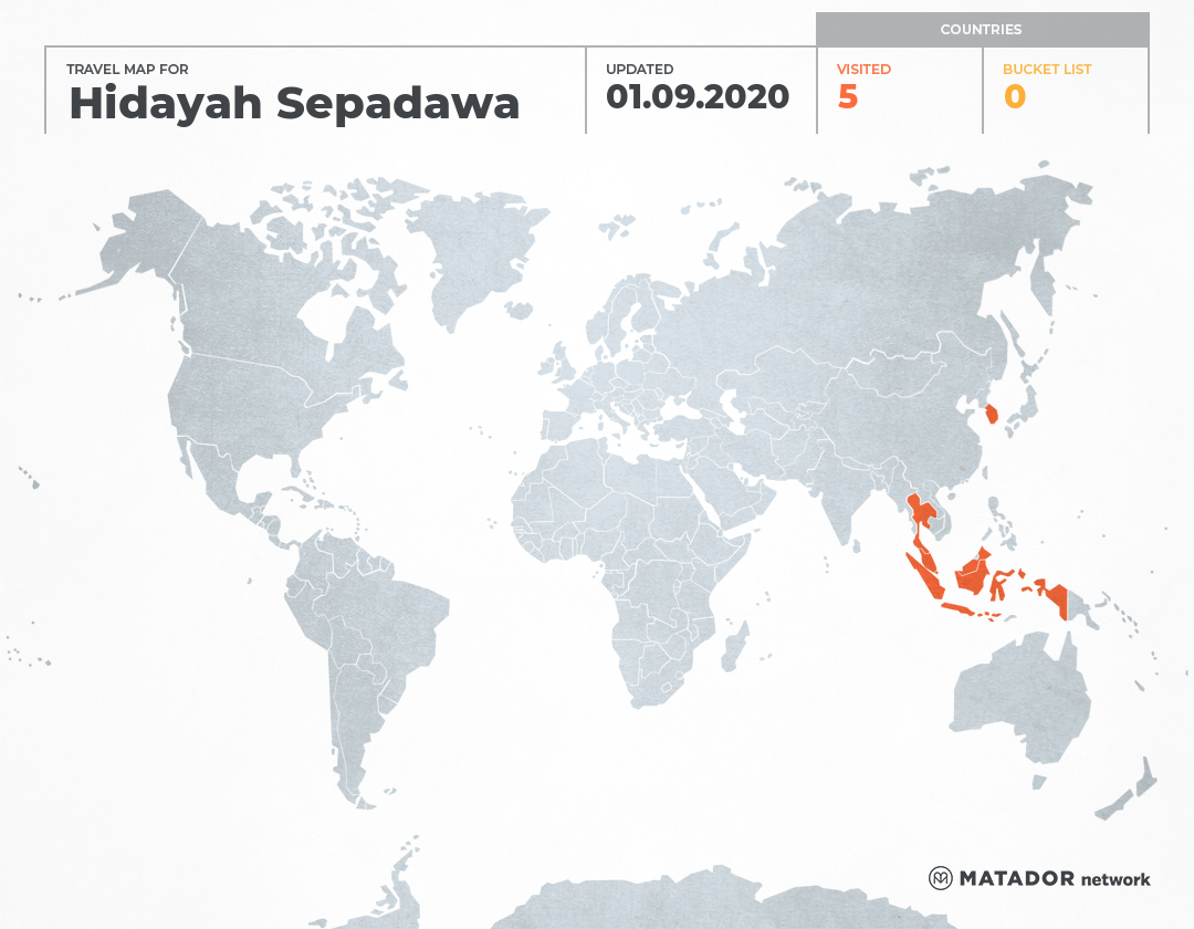 Hidayah Sepadawati's Travel Map