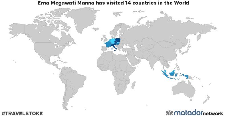 Erna Megawati Manna's Travel Map