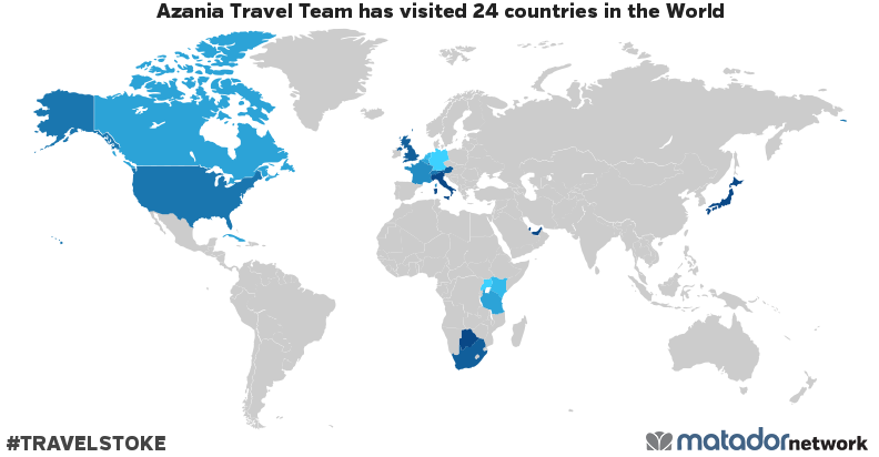Azania Travel Team's Travel Map