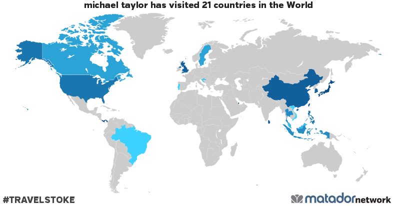 michael taylor's Travel Map
