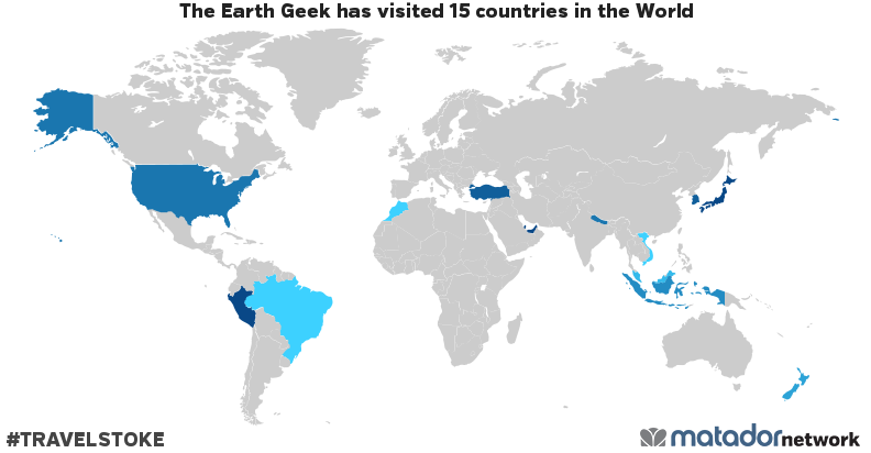 The Earth Geek's Travel Map