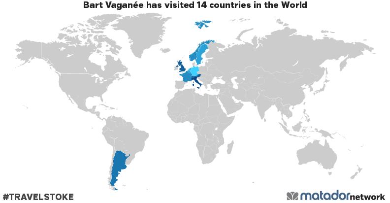 Bart Vaganée's Travel Map