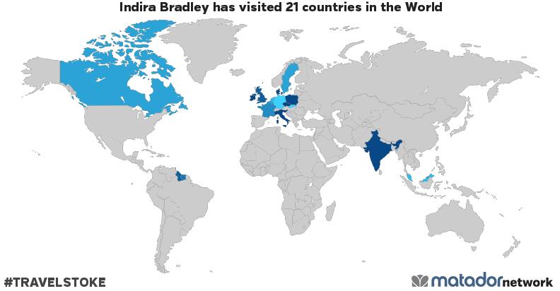 Indira Bradleys Travel Map Matador Network