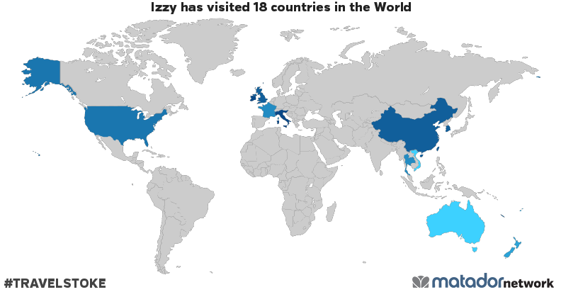 Izzys travel map matador network peoples republic of china cook islands fiji france french polynesia hong kong ireland italy new caledonia new zealand samoa singapore gumiabroncs Gallery