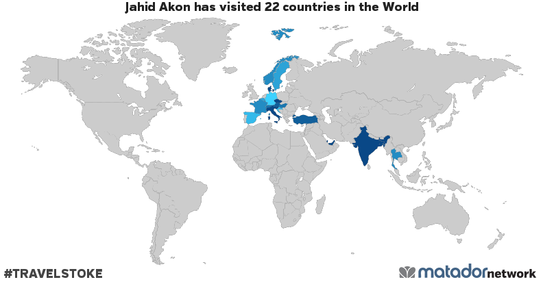 Jahid Akon's Travel Map