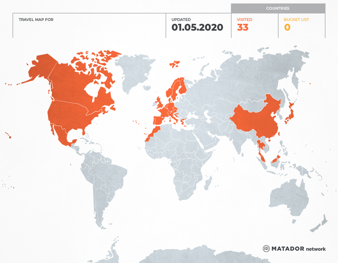 Larissas Travel Map Matador Network