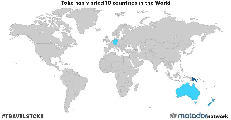 Map Of Australia New Zealand And Papua New Guinea.Toke S Travel Map Matador Network